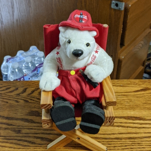 Coca-cola beanie bear directors chair
